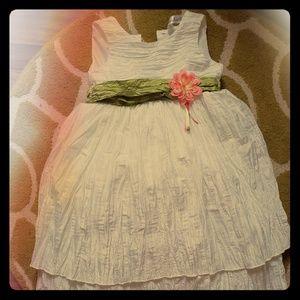Girls White Formal Dress 5T